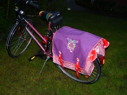 Satteltaschen selber machen, Fahrrad, nähen