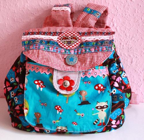 Kindergarten Tasche Rucksack, Schnittmuster, nähen