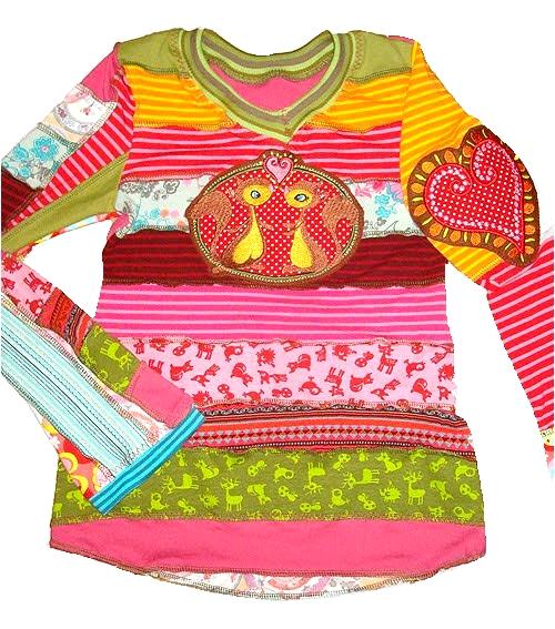 Shirt aus Jerseyresten patchen, Schnittmuster