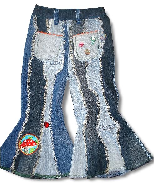 Schnittmuster Schlaghose, recyceln von alten Jeans