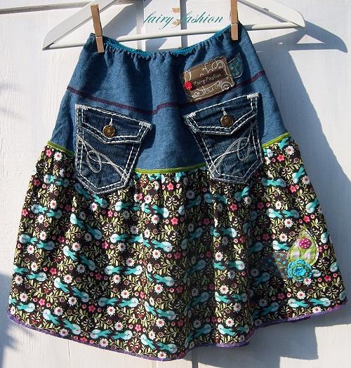 Jeans-Recycling, Damenrock