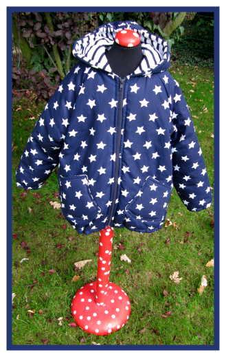 einfache Jacke selber nähen, Schnittmuster Kinder