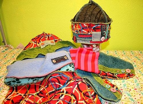 Schnittmuster Handschuhe, Mütze, Schal
