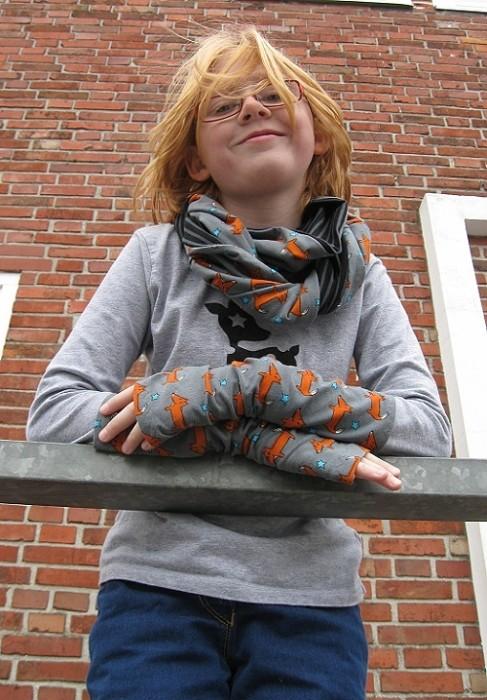 Doppelloop-Schal, gratis Tutorial, kostenlose Anleitung
