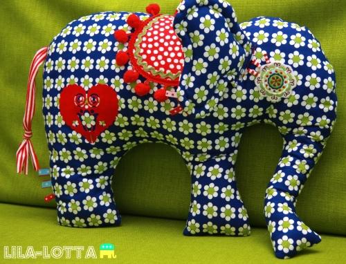 Schnittmuster Elefant-Kisen, kostenlos
