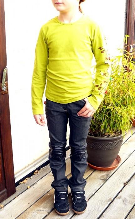 Schnittmuster Jeans Hose für schmale Kinder