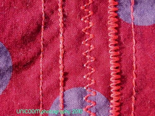 breite Nähte, Jeansnähte, dickes Nähgarn, farbenmix