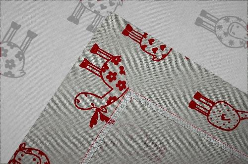 Anleitung für Briefecken, Tischdecke, Ecken nähen