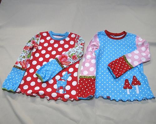 Zwillinge Shirts nähen, Anleitung farbenmix