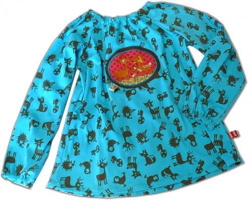 Schnittmuster Jersey Bluse, PüReh farbenmix