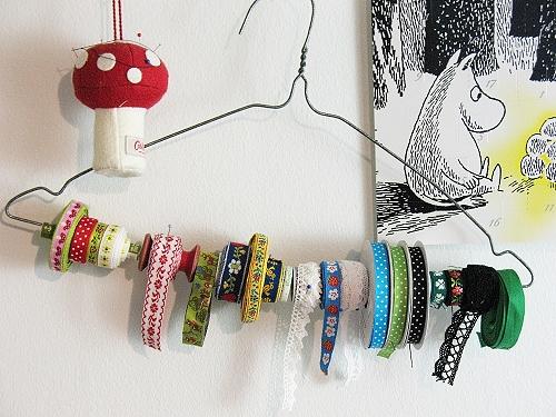 Aufbewahrung von Bändern, Borten farbenmix