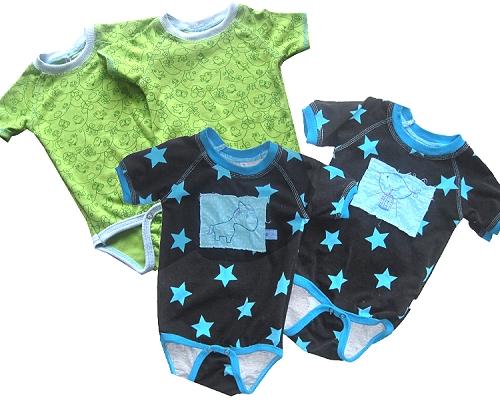 Baby Bodys selber nähen, Schnittmuster farbenmix.de