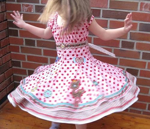 Kleid, Mädchen, Schnittmuster farbenmix, selber nähen