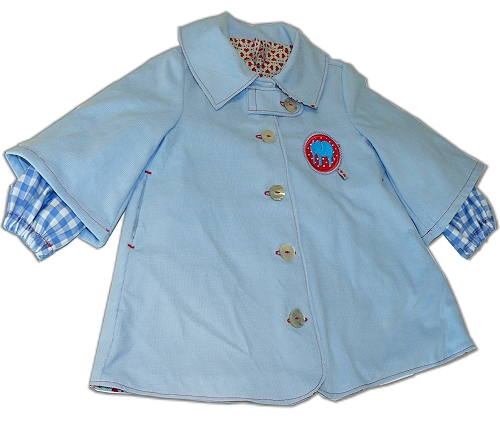 Retro-Mode, Kinderjacke, Schnittmuster farbenmix