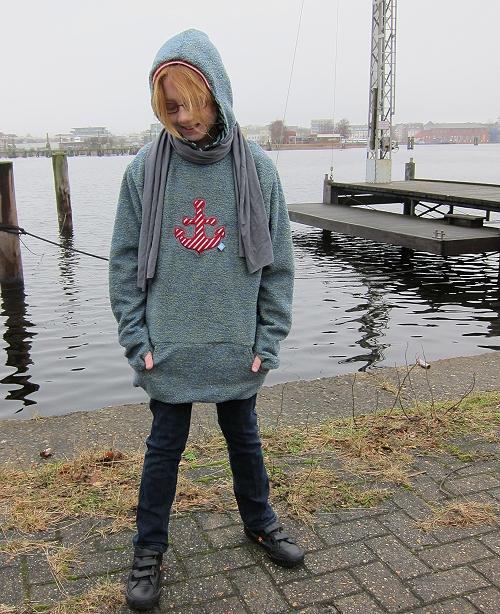 Schnittmuster Pullover, Sweater farbenmix Fleecepullover