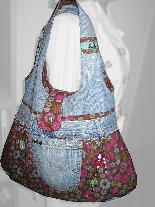 Schnittmuster Tasche, farbenmix, recycling