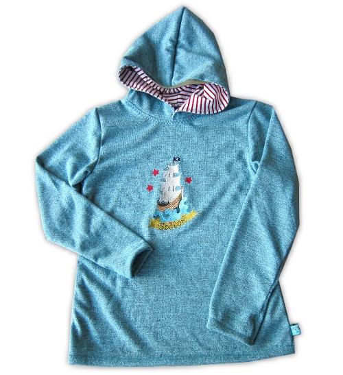 Strickpulli nähen, Schnittmuster farbenmix, Sweater, Kapuzenpulli