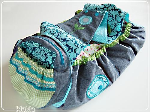 Tasche, Schultertasche, Bag, farbenmix Schnittmuster