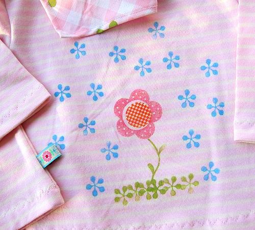 Babykleidung selber nächen, Stoff bestempeln, stempeln, farbenmix