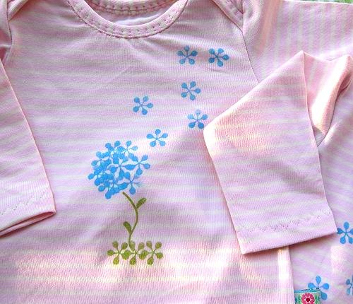 Babysachen selber nähen und stempeln, farbenmix