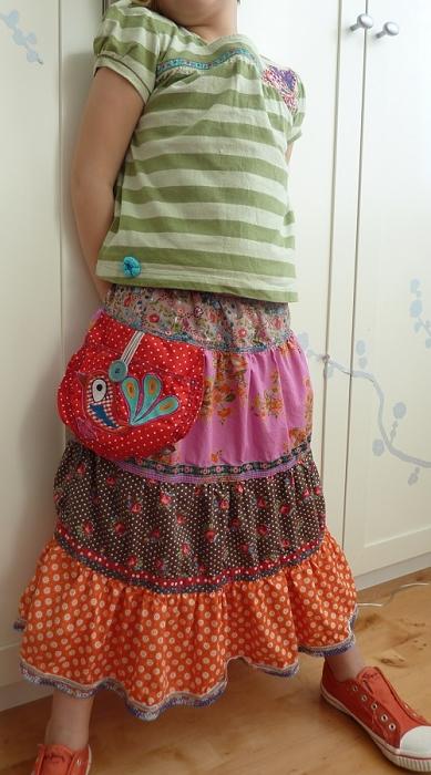 Folklorerock, Mädchen, nähen mit farbenmix, Schnittmuster