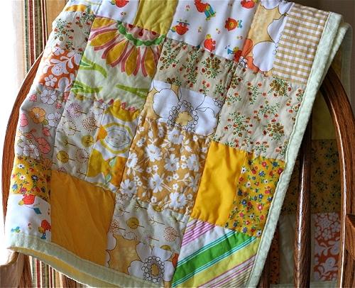 Quilt, Patchwork, farbenmix