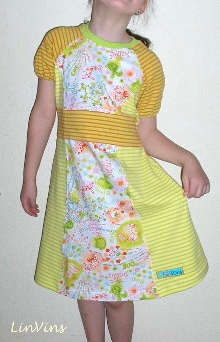 Kleid, Jersey, Schnittmuster farbenmix