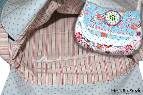 Kreativ-Ebook Tasche mit doppelter Klappe, farbenmix