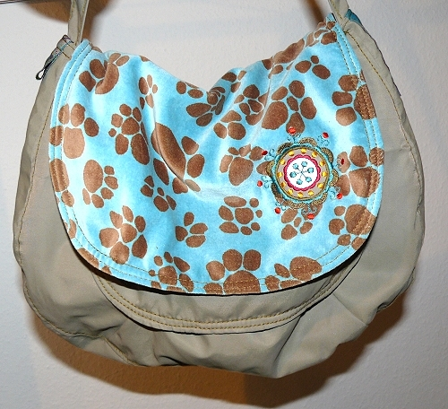 Tasche, Kreativ-Ebook, Klappentasche farbenmix
