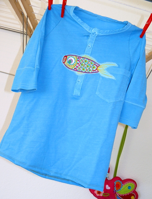 Recycle-style: Herrenshirt zum Kindershirt, farbenmix