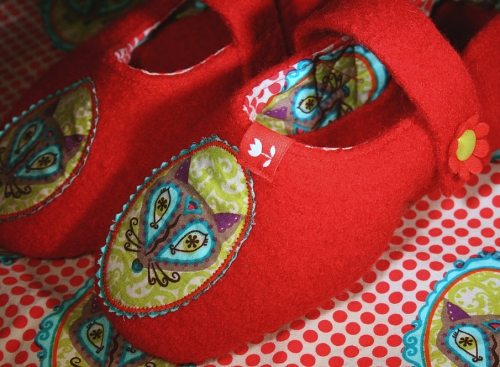 Walk Hausschuhe selber nähen, FloraFox Popeline farbenmix