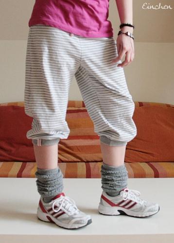 Sportkleidung selber nähen, Hipp-hopp-Hose Schnittmuster