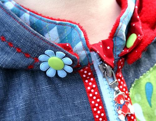 Mantel nähen, holländische Kindermode, Design farbenmix