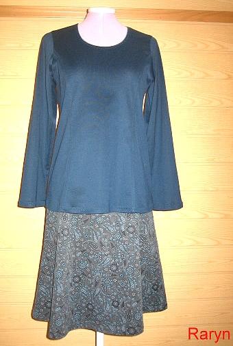 Damen Schnittmuster Rock Shirt, naehen, farbenmix
