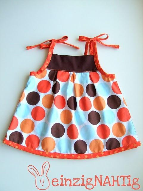 Babykleid, Schnittmuster, farbenmix Zwergenverpackung