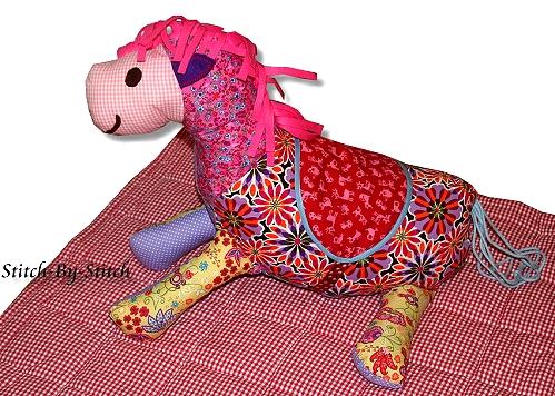 Pferd selber nähen, Anleitung farbenmix, Schnittmuster