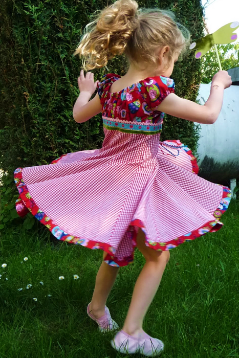 Schnittmuster Festkleid ELODIE, Mädchen, farbenmix