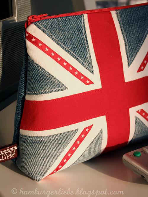 Applikation Flagge selber machen, nähen, applizieren, farbenmix