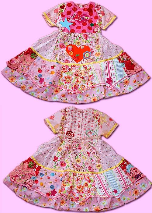 Kleid, Mädchen, selber nähen, Schnittmuster farbenmix, Oilily-Style