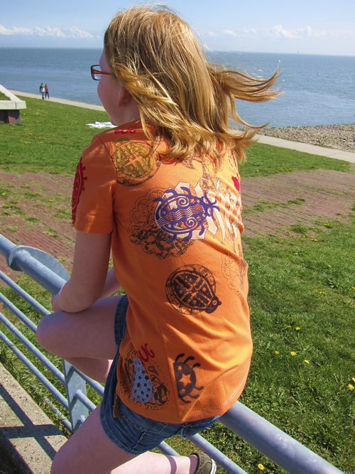 recycle-Style, Shirt farbenmix Schnittmuster HILDE