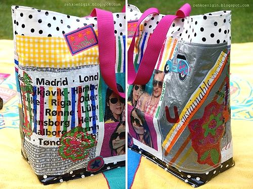 Recycle-style: Plastiktüten zur Tragetasche bügeln, crafting