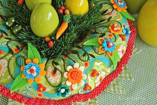 Kranz nähen, Ostern, Weihnachten, Patchwork, farbenmix
