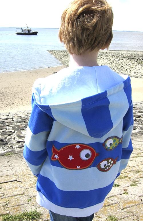 Recycle-style: marine-weiß, blau-weiß, Stickmuster paulapü, farbenmix