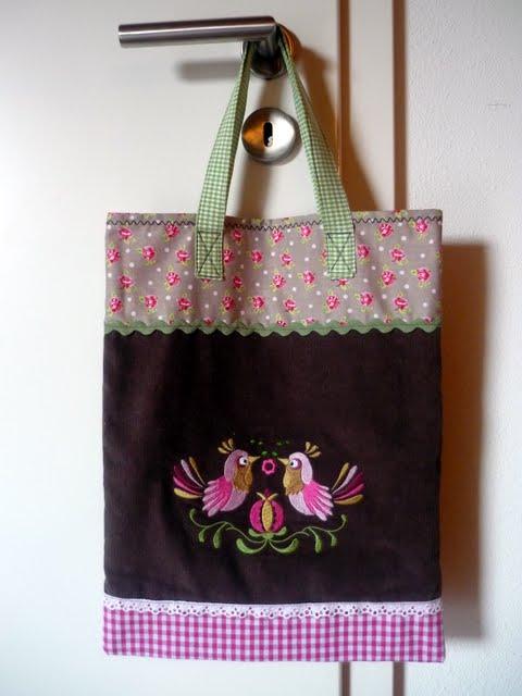 Tasche, Einkaufsbeutel selber nähen mit farbenmix Ratz-Fatz-Tasche