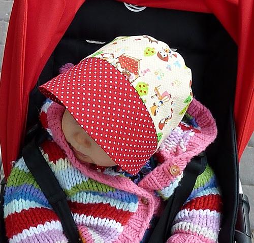 Bonnet, Babymütze, nähen, Anleitung, Schnittmuster farbenmix