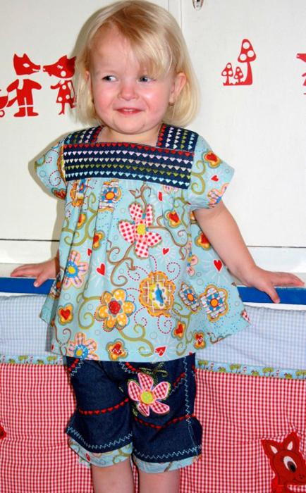 Bluse für Mädchen nähen, Kleinkinder, Schnittmuster farbenmix
