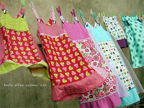 Trägerkleid, Mädchen, Patchwork Schnittmuster farbenmix VIDA