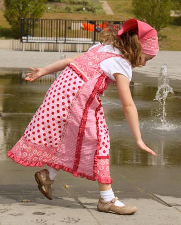Trägerkleid, Mädchen, Patchwork, Schnittmuster farbenmix VIDA