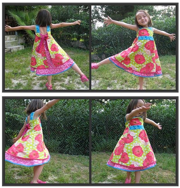 Kleid, Rüschenkleid, Schürze, nähen, Schnittmuster farbenmix