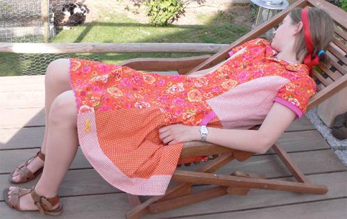 sportliches Kleid nähen, Fotoanleitung, Schnittmuster farbenmix